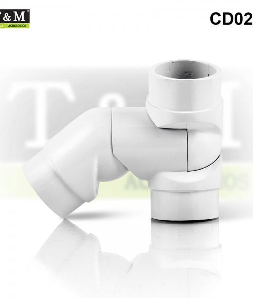 CD02E-Cotovelo-TeM-Duplo-Articulado-Esquerdo-Aluminio-branco