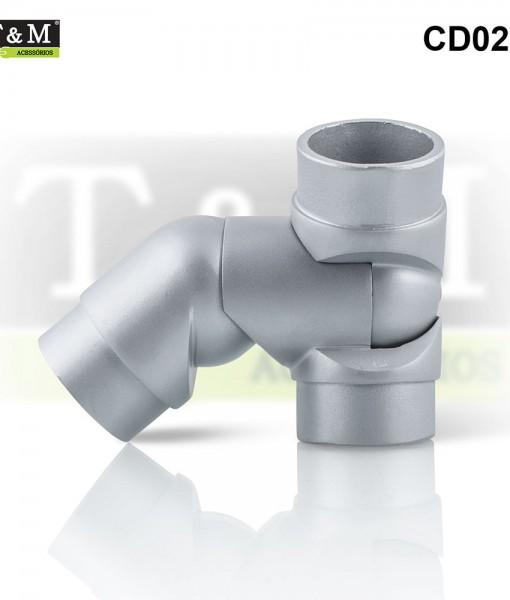 CD02E-Cotovelo-TeM-Duplo-Articulado-Esquerdo-Aluminio-cinza