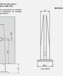 TB10-Torre-TeM-250mm-para-Vidro-desenho-tecnico-inox-aluminio