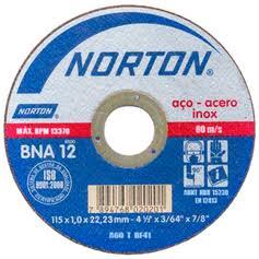 Disco de corte para inox 115 x 1,0 x 22 mm - BNA12